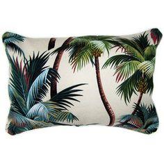 Sanctuary Palm Trees Fabric Cushion Tropical Pillows by Wayfair Australia