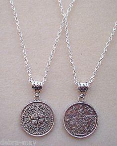 #Reversable tetragrammaton pentagram zodiac good luck amulet magic #charm #neckla,  View more on the LINK: http://www.zeppy.io/product/gb/2/142118737379/