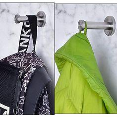 Hestya 6 Pack Stainless Steel Elephant Nose Hook Wall-Mount Robe Hook Coat Hook Towel Wall Hook Brushed Nickel Large