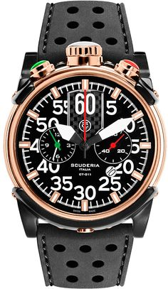 CT Scuderia Watch Chrongraph #bezel-fixed #bracelet-strap-rubber #brand-ct-scuderia #case-material-rose-gold-pvd #case-width-44mm #classic #delivery-timescale-4-7-days #dial-colour-black #gender-mens #movement-quartz-battery #official-stockist-for-ct-scuderia-watches #packaging-ct-scuderia-watch-packaging #style-sports #subcat-saturno #supplier-model-no-cs10103 #warranty-ct-scuderia-official-2-year-guarantee #water-resistant-100m