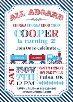 Train Ticket Invitation Free Template Birthday Pinterest