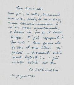 Salvatore Quasimodo: Pasolini scrive a Quasimodo