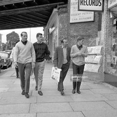 England's Ron Springett, Peter Bonetti, Nobby Stiles and Alan Ball go shopping in Golders Green the day after England earned their place in the World Cup Final with victory over Portugal Get premium, high resolution news photos at Getty Images Peter Bonetti, England International, Nobby, World Cup Final, Stiles, Go Shopping, Victorious, Football, Portugal