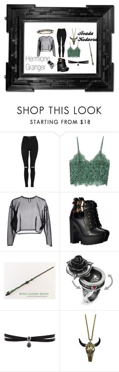 """""""Evil Hermione"""" by jazzlyn-ocean-sutherland on Polyvore featuring Linda Horn, Topshop, MANGO, Yves Saint Laurent, Fallon, Zara Taylor and Alexander McQueen"""