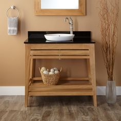"36"" Aurelia Teak Vanity for Semi-Recessed Sink"