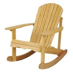 Shop for Costway Outdoor Natural Fir Wood Adirondack Rocking Chair Patio Deck Garden Furniture. Get free delivery On EVERYTHING* Overstock - Your Online Garden & Patio Shop! Adirondack Rocking Chair, Rocking Chair Plans, Wood Adirondack Chairs, Recycled Plastic Adirondack Chairs, Wooden Rocking Chairs, Outdoor Rocking Chairs, Wooden Chairs, Patio Seating, Patio Chairs