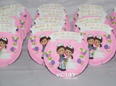 wedding, souvenirs,  keepsakes, engineer, nurse, polymer clay