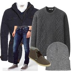 Grey winter | Men's Outfit | ASOS Fashion Finder