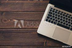 Laptop on the desk