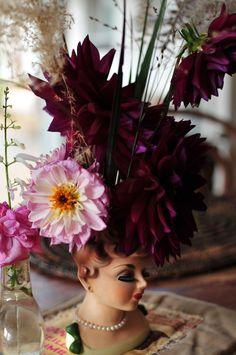 Dahlias - such exuberant fleurwers.