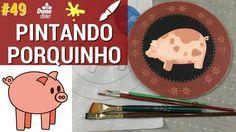 COMO PINTAR PORQUINHO NO PRATO PASSO A PASSO | Pintando Com o  #49 | PINTURA TÂNIA MARQUATO