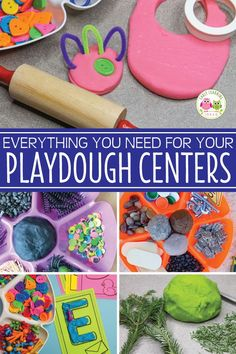 Find everything you need for playdough activities in your classroomor. Learn about the benefits of playdough, the best playdough tools, ideas for mix-ins, ideas for invitations to play, plus find printable playdough mats. A great resource to get ideas for Preschool Centers, Preschool Curriculum, Preschool Classroom, Preschool Learning, Classroom Activities, Teaching, Learning Centers, Homeschooling, Kindergarten
