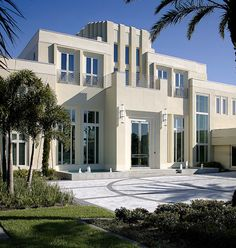 The three-story Art Deco, 10,155-square-foot home designed by Nasrallah Architectural Group