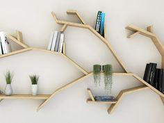Diy Bookshelf Wall, Tree Bookshelf, Tree Shelf, Book Shelves, Floating, Tree Shapes, Oak Tree, Etsy, Woodworking