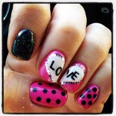Valentine Nails. LOVE.