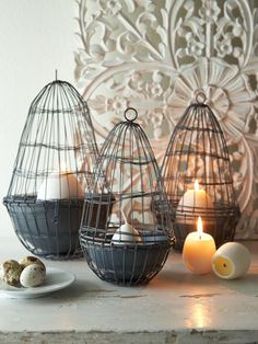 Sourced in Sweden, these grey metal vintage style wire baskets are just so different!