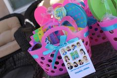 Teen Beach Movie birthday party favors!  See more party planning ideas at CatchMyParty.com!