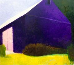 Wolf Kahn. I love his barn series. Look what he can do with so few colors.