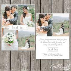 Hochzeit Danke Card Template Brautjungfer von StillbrookDesigns