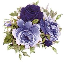 AMaZinG!! LiLaC TeA RoSeS & SWaGs ShaBby WaTerSLiDe DeCALs ~MeDiuM~
