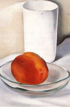 """Peach and Glass"" by Georgia O'Keeffe; 1927"