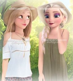 Find images and videos about disney, elsa and rapunzel on We Heart It - the app to get lost in what you love. Disney Princess Fashion, Disney Princess Pictures, Disney Style, Disney And Dreamworks, Disney Pixar, Disney Rapunzel, Disney Frozen, Disney Actual, Disney Adoption