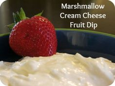 Marshmallow Cream Cheese Fruit Dip JENN{ I make this all the time! I sometimes use it to garnish banana carrot, or spice bread. Or stuff strawberrys} sooooo gooood!