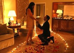 After a romantic dinner out, have rose petals leading her to the balcony in your room at #lookoutpoint. Have champagne waiting for her. Pop the question before you pop the cork! #arkansas