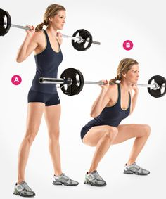 Wide-Stance Barbell Squat  http://www.womenshealthmag.com/fitness/types-of-squats/slide/5