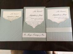 Invitacion matrimonio sobre cuello v