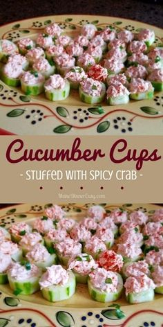 A finger-friendly, no-bake, make ahead of time appetizer recipe- I made these Cucumber Cups Stuffed with Spicy Crab for the holidays and they were a hit!