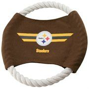 Pittsburgh Steelers 9'' Flying Rope Football Disk Dog Toy #Football #NFL #NFLDogProducts #NFLPetProducts #DogProducts #PetProducts #PittsburghSteelers #PittsburghSteelersDogs #PittsburghSteelersPets #Steelers #Animals #Dogs #Pets #AdorabullBulldogs #PawsativeParents
