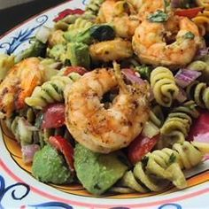 Lime-Shrimp Avocado Pasta Salad Allrecipes.com