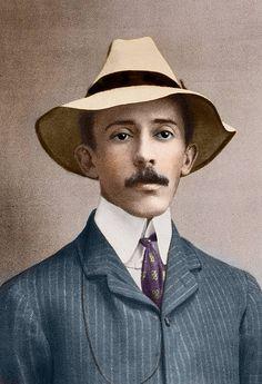 Portrait of brazilian aviator Alberto SantosDumont 18721932 Photograph beginning of the 20th century Private collection