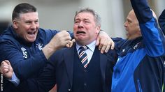 Rangers manager Ali McCoist seemed rather happy with the Old Firm win yesterday!