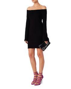 L'Agence Off The Shoulder Dress: Black