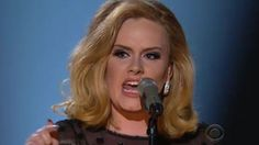 ADELE ~ Rolling In The Deep 2012 Grammy performance......I'm re-pinning this because the Grammy's removed all videos of the performance from You Tube. Click on photo to view.