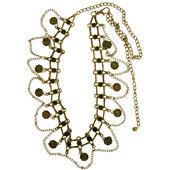 Metal Chain Belt with Octagonal Coins