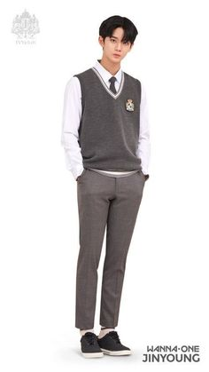 wanna one jinyoung for ivy club School Fashion, Boy Fashion, Korean Fashion, Mens Fashion, School Uniform Outfits, School Dresses, Jinyoung, Ivy Club, Boys Uniforms