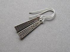 Celtic earrings celtic braid drops fine silver by sevenstarz, $12.00