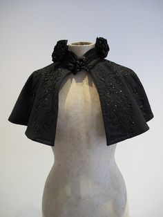 Authentic Victorian Mourning Cape Jet Beaded by Heythatsmydoll, £55.00