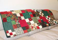 All That Glitters Christmas Lap Quilt Sofa by QuiltSewPieceful, $225.00 #etsy
