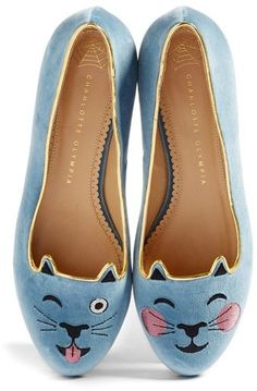 Charlotte Olympia LOL Kitty Flat (Women)