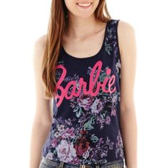 Barbie Floral Print Tank Top   found at @JCPenney