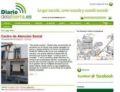 Diario de la Sierra se hace eco de nuestro proyecto: http://www.diariodelasierra.es/2013/11/18/centro-de-atencion-social/#more-57493