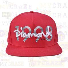 DIAMOND SUPPLY CO Red 1998 Snapback Adjustable Cap Street Hip Hop Skater – MyCraze  #diamondsupplyco #baseballcap #streetwear