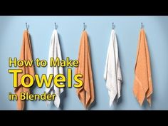 How to Make Towels - Blender Tutorial - YouTube