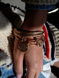 Alex and Ani - obsessed with these freakin' amazing bracelets. Can't get enough.