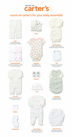 Count on Carter's for all your essentials for baby. #littlelayette #carters