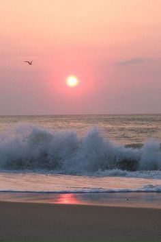 Panoramio - Photo of Outer Banks Sunrise--Waves NC Sunset Beach, Ocean Beach, Ocean Waves, Beautiful Sunset, Beautiful Beaches, Beautiful World, I Love The Beach, All Nature, Beach Pictures